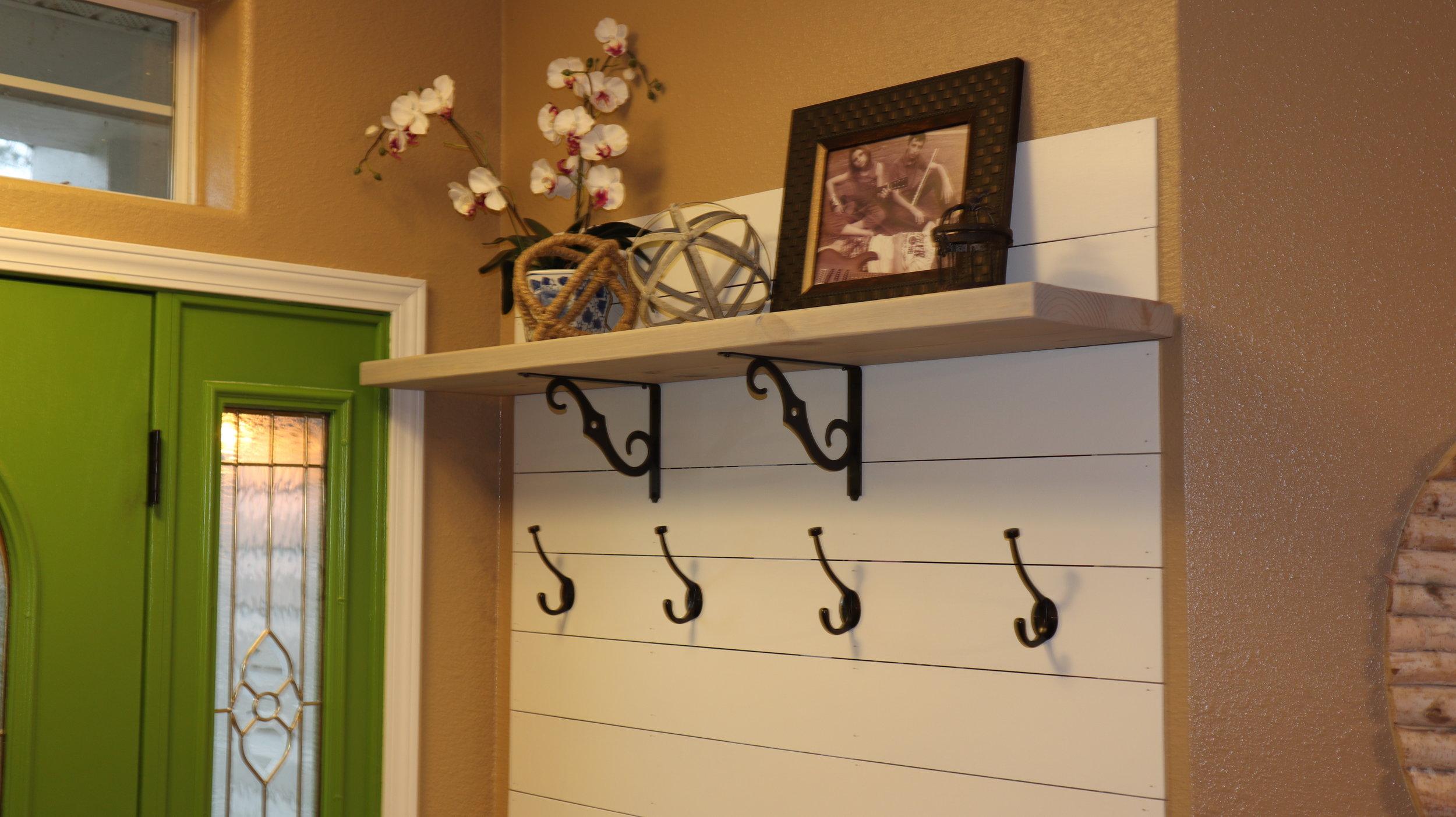 hall tree shelf