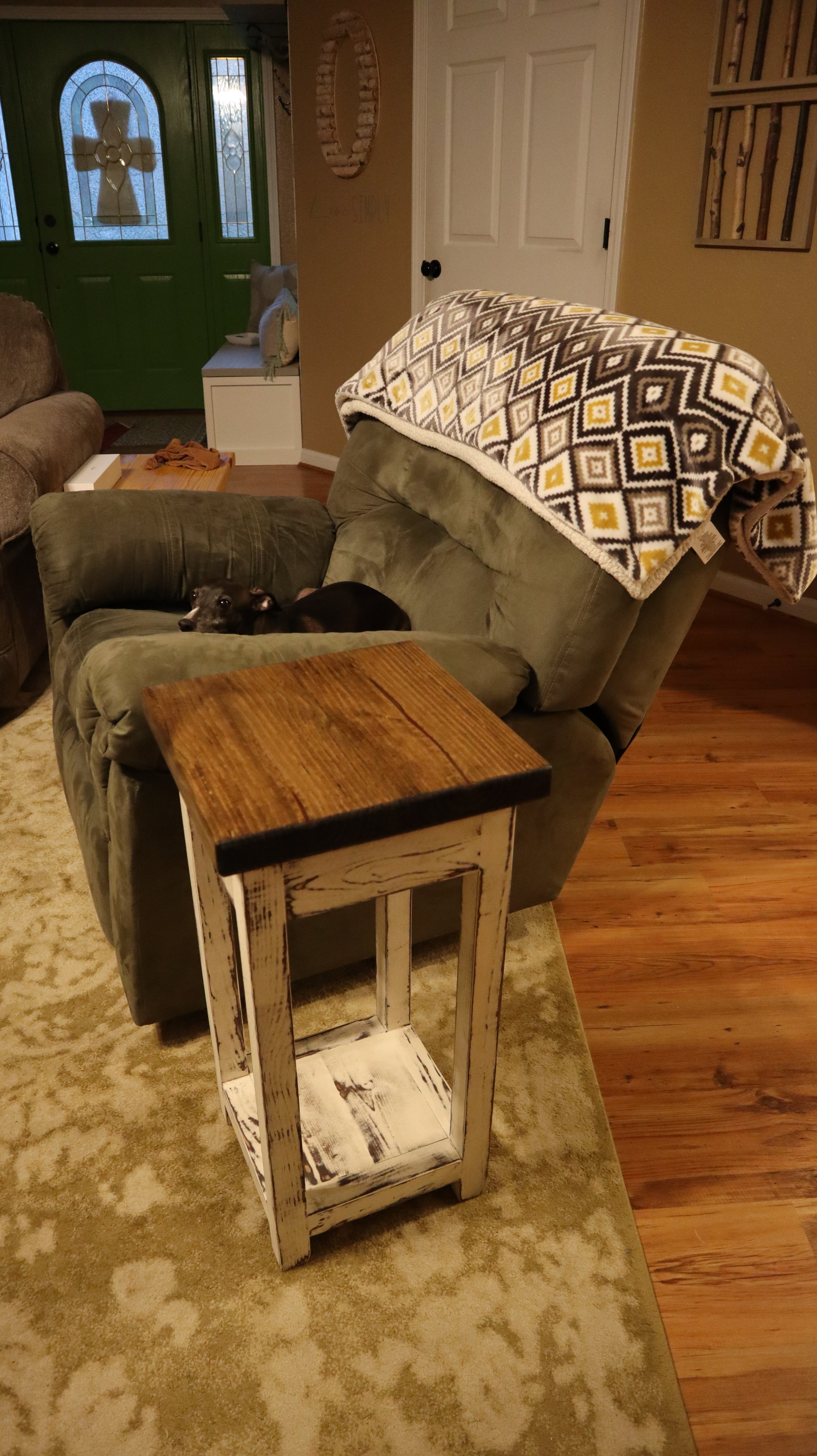 DIY Recliner Side Table