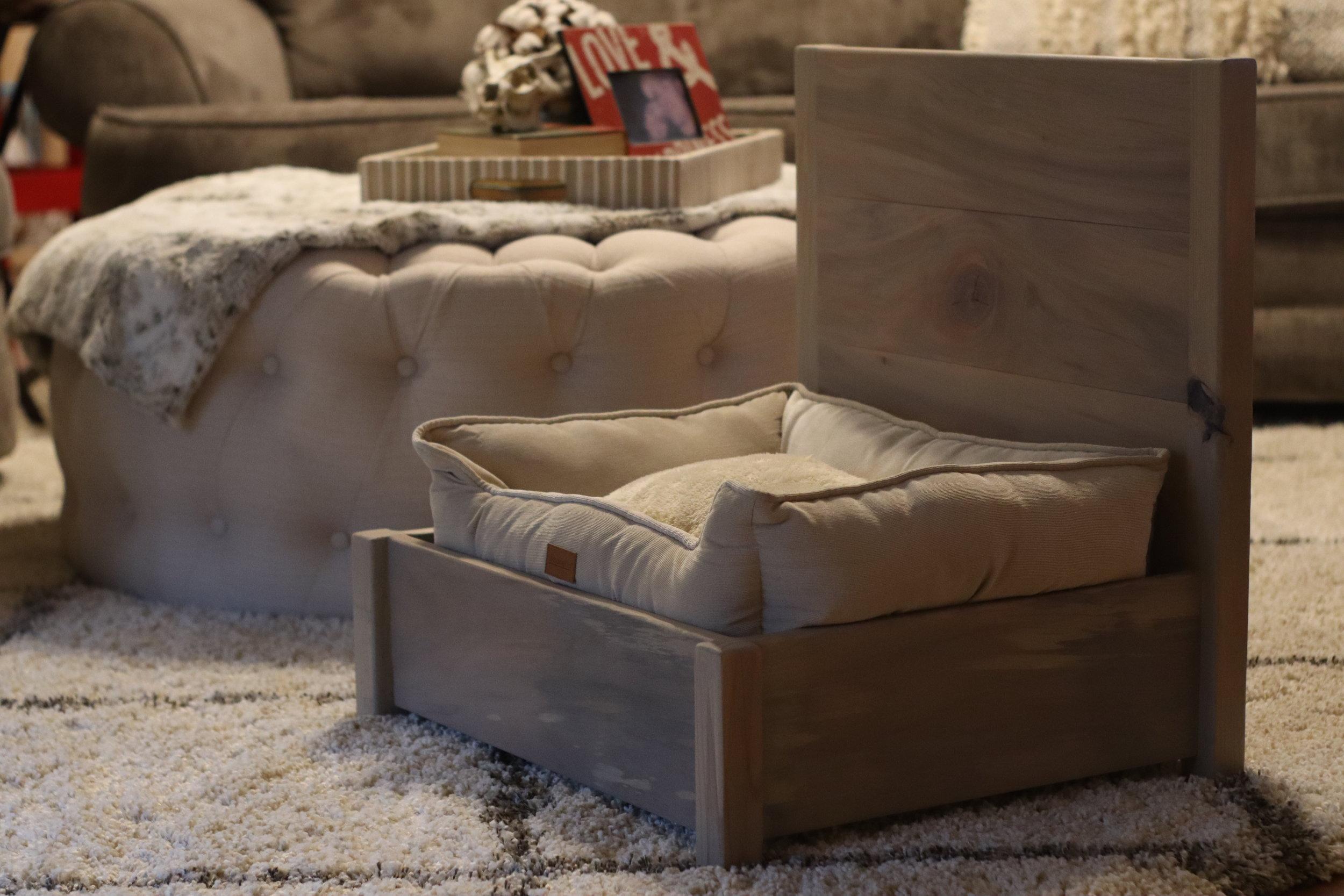 wood dog bed.JPG