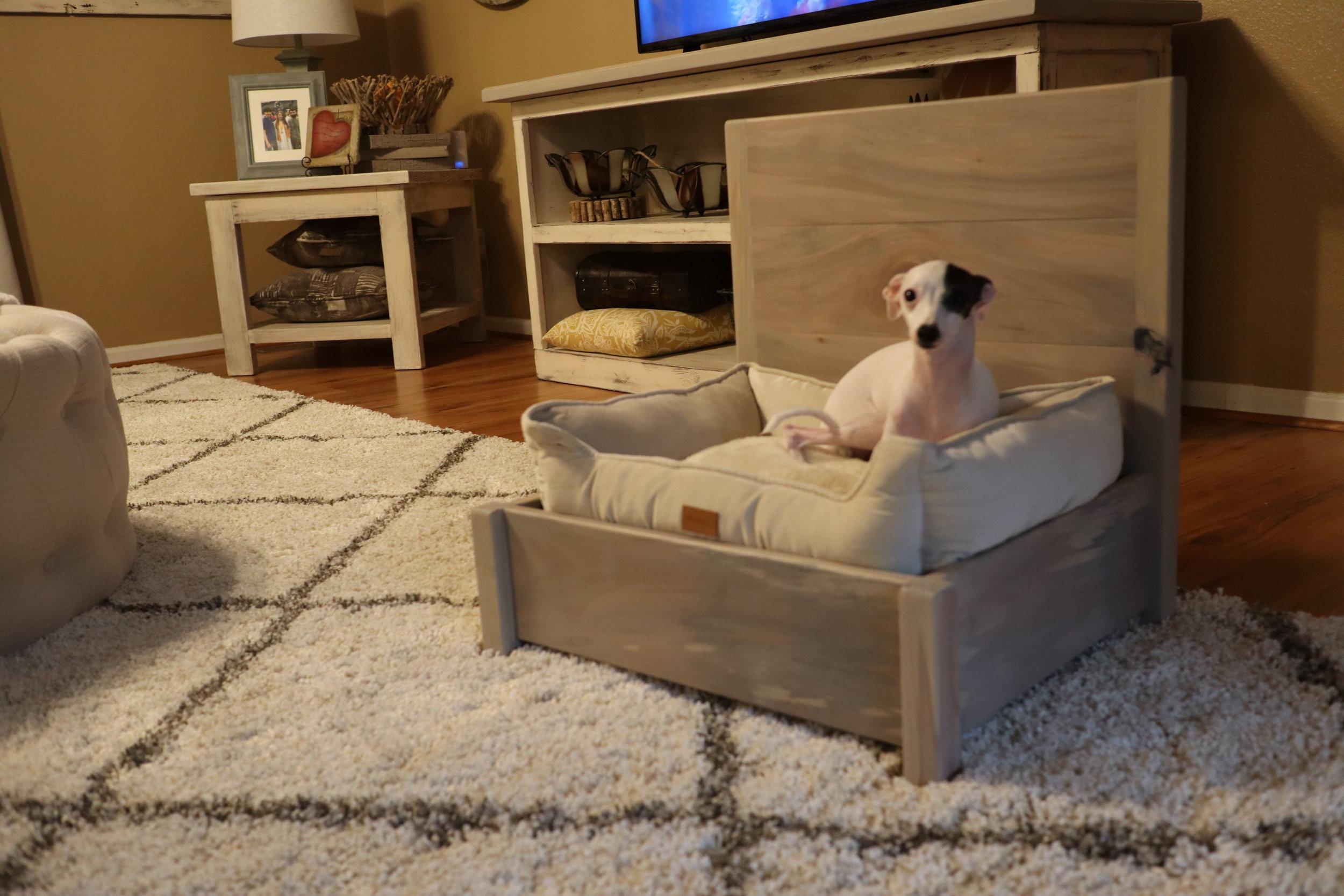 diy puppy bed.JPG