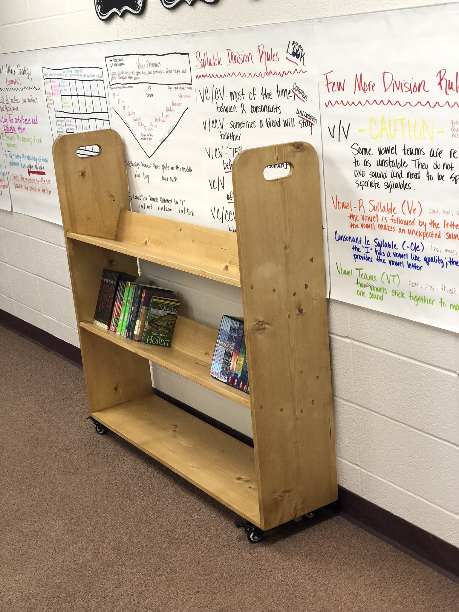 How To Build A Library Cart Diy Rolling Bookshelf 731