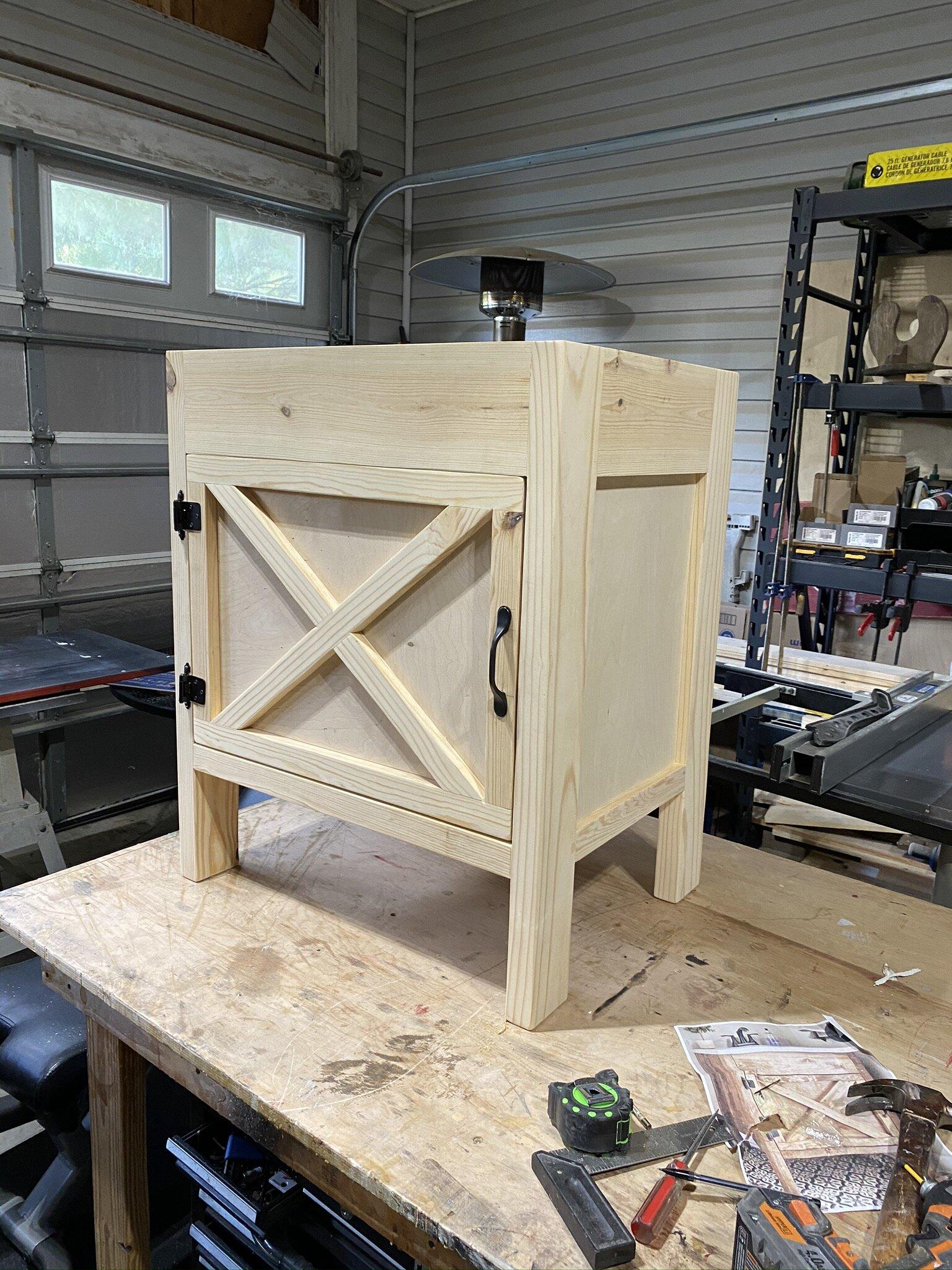 Diy Farmhouse Bathroom Vanity With Plans 731 Woodworks We Build Custom Furniture Diy Guides Monticello Ar