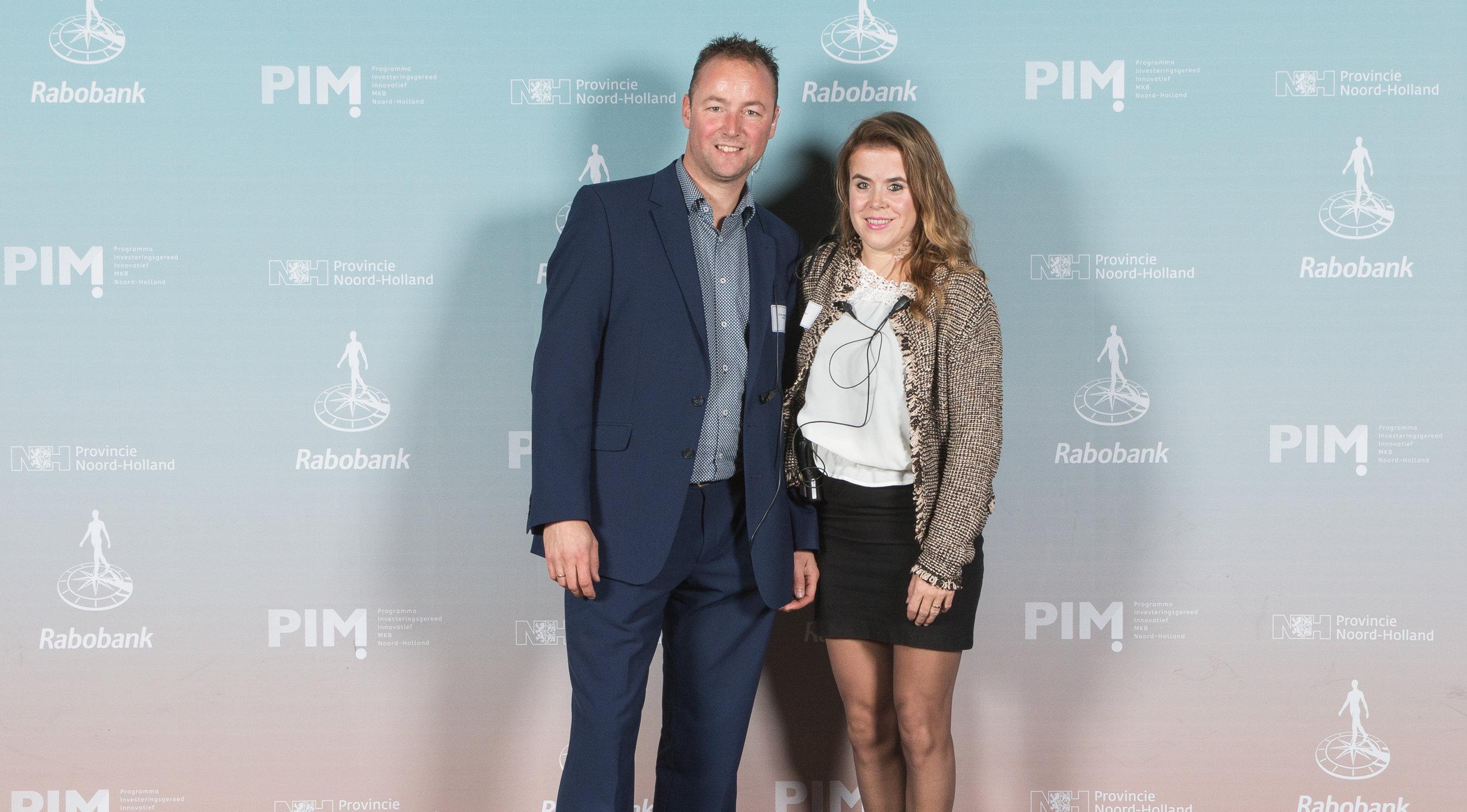 Eddie en Valerie op het kickoff event van PIM NH