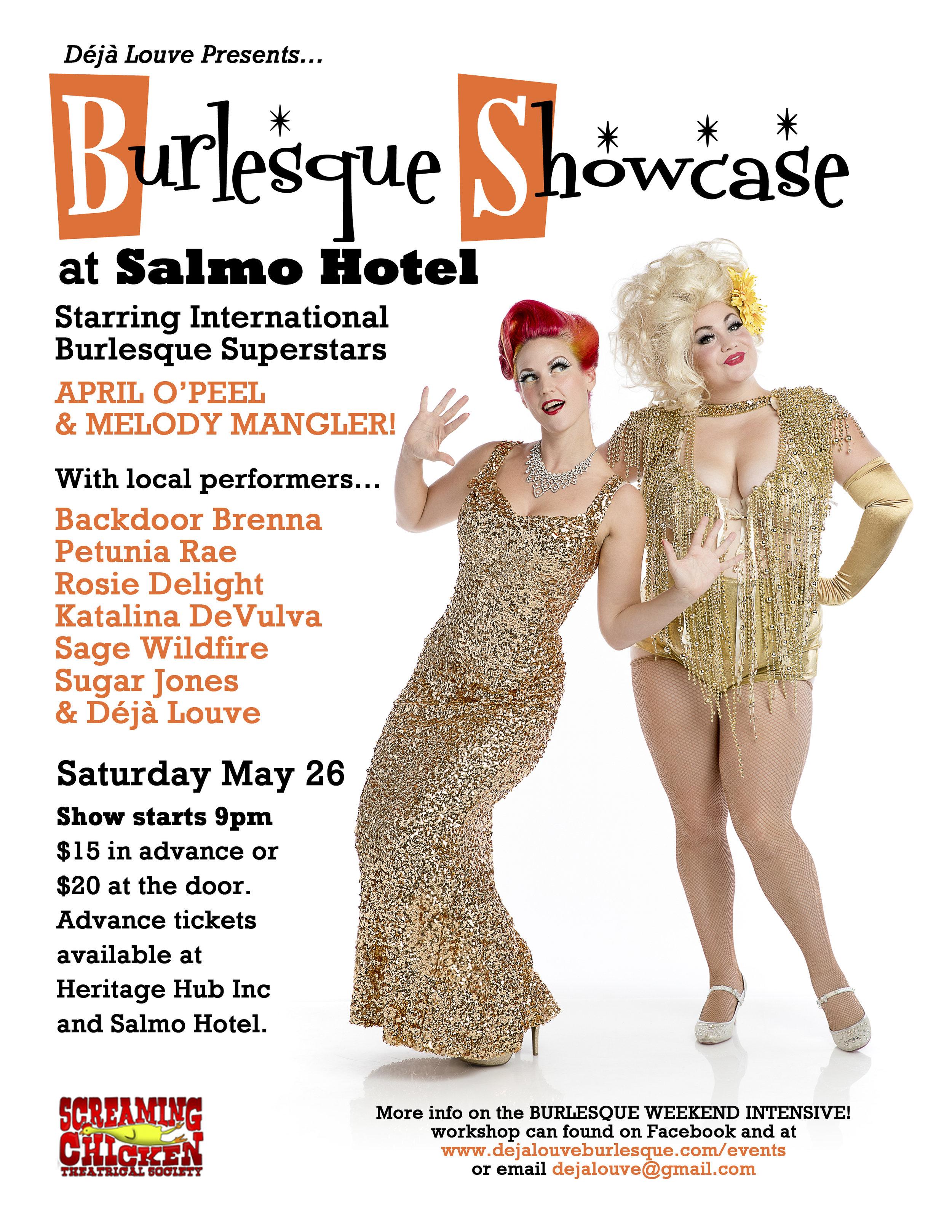 Burlesque Showcase April O'Peel & Melody Mangler