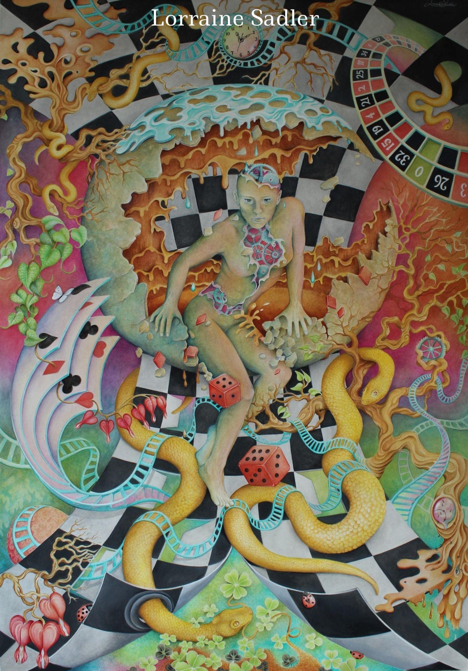 "25 x 35.5"" Gouache and Watercolour"
