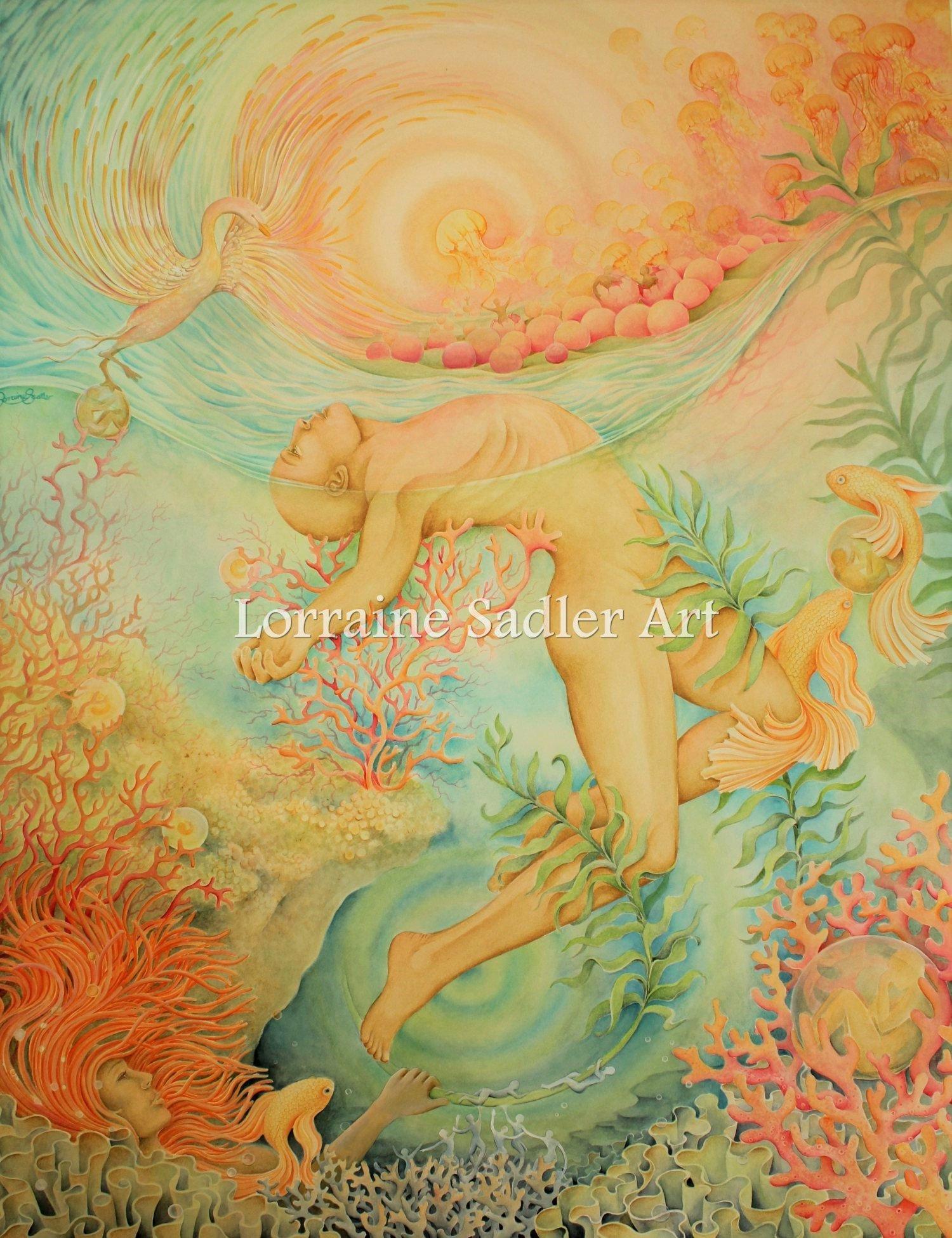 "24 x 31"" Gouache & Watercolour on Watercolour paper"