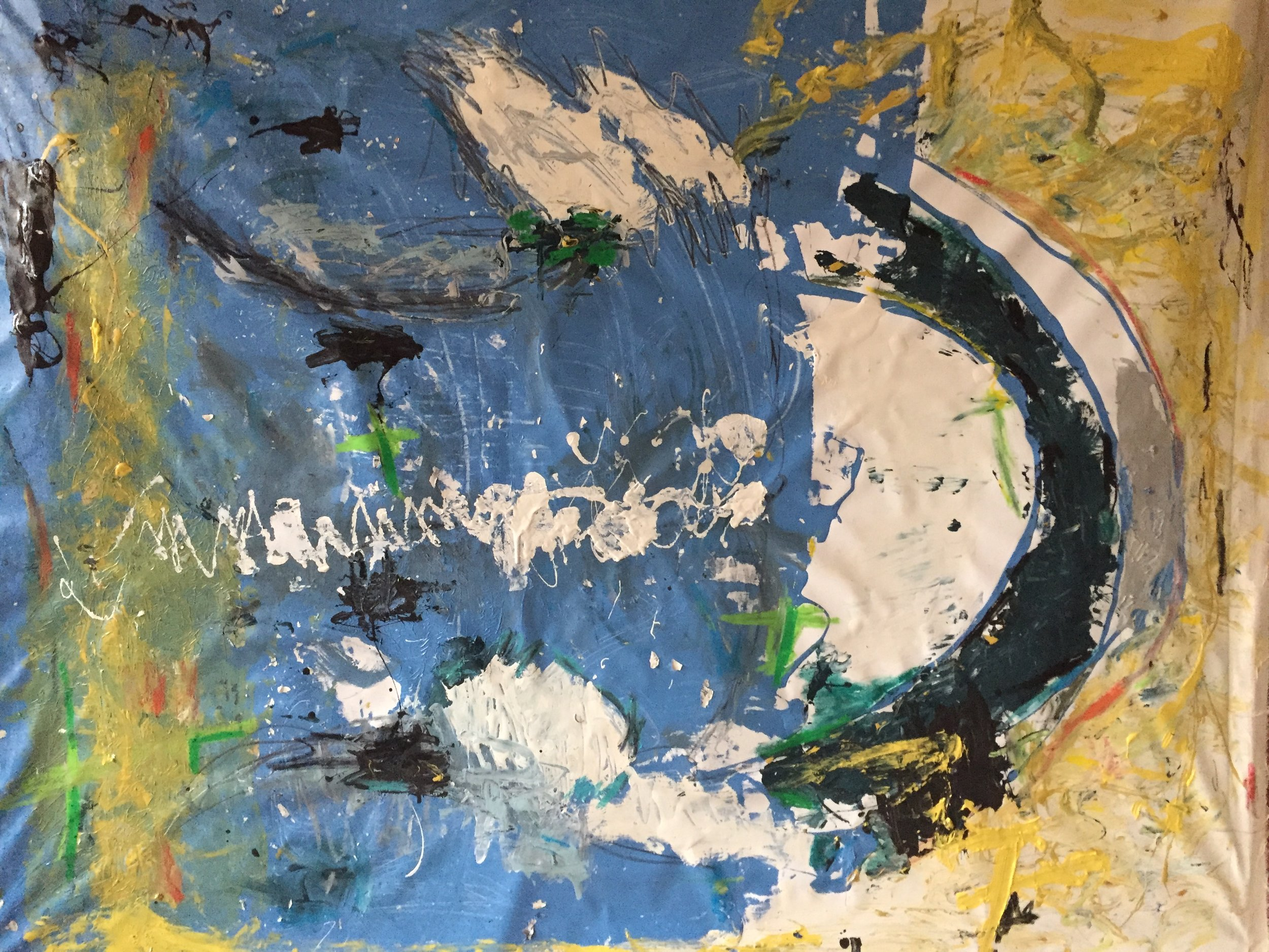 "White Crescent   42"" x 52""      2015"