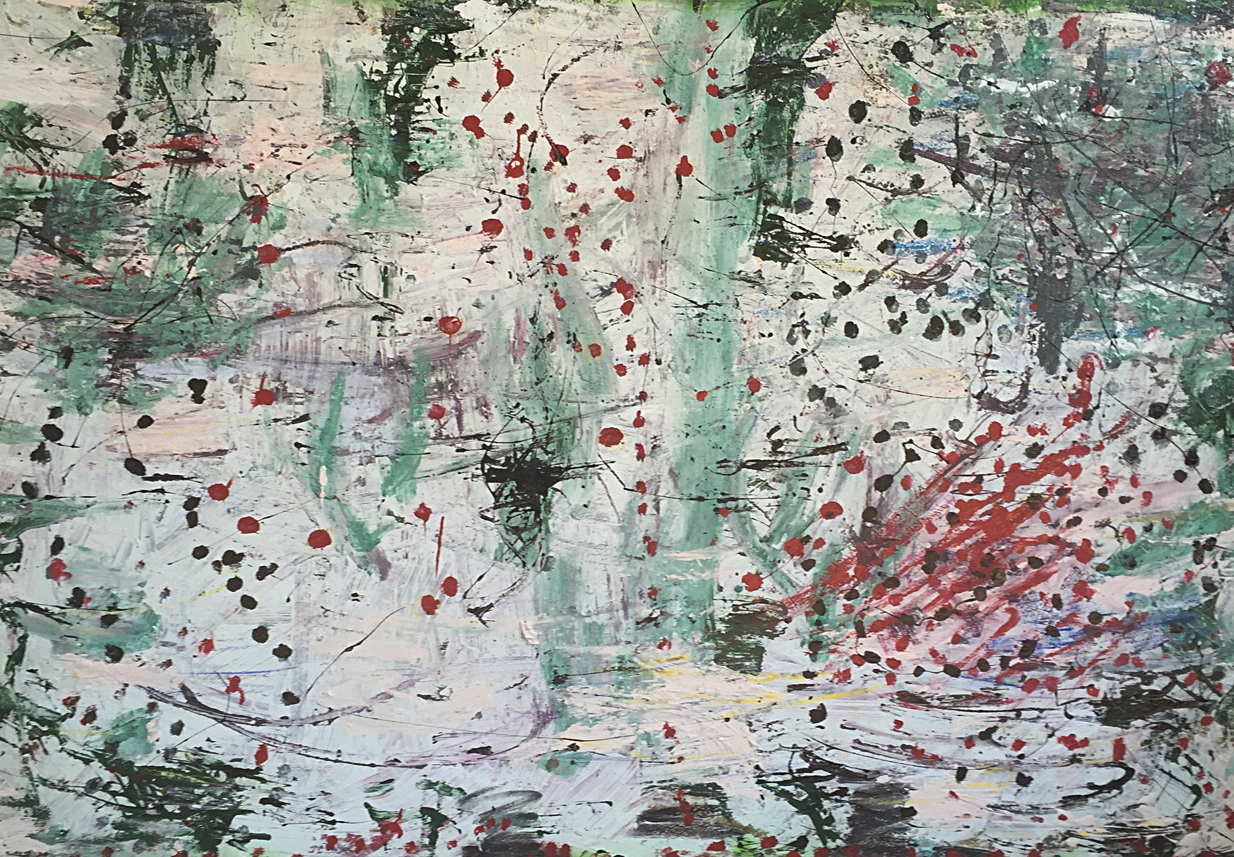 "Scattered Green   48"" x 60""      2013"