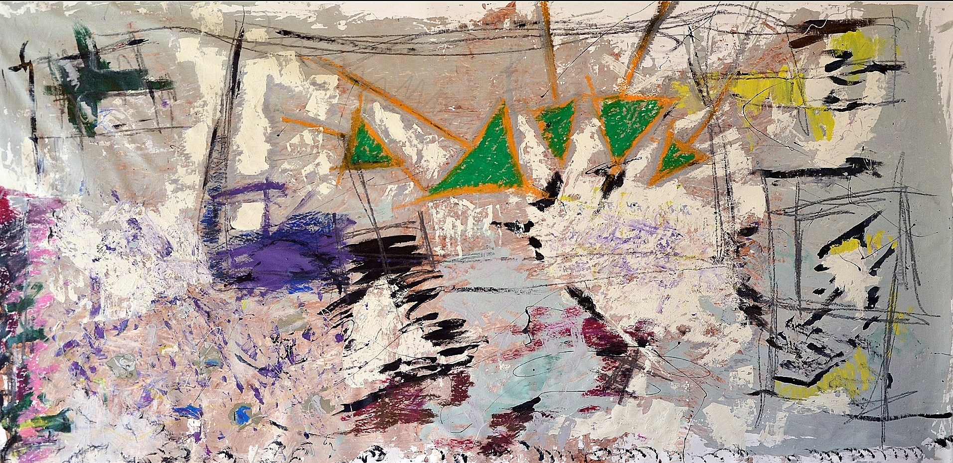 "Arrows for Green   48"" x 80""     2015"