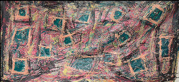 """Pink Square   43"""" x 80""""      1980's"""