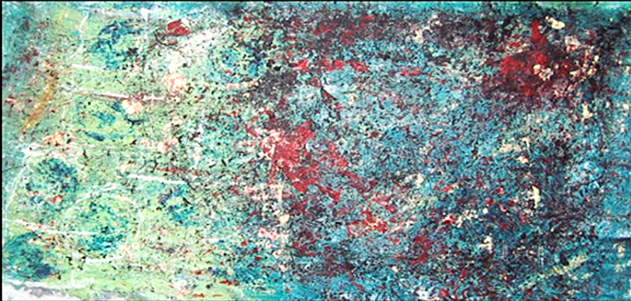 """Speckled  46"""" x 84""""      1980's"""