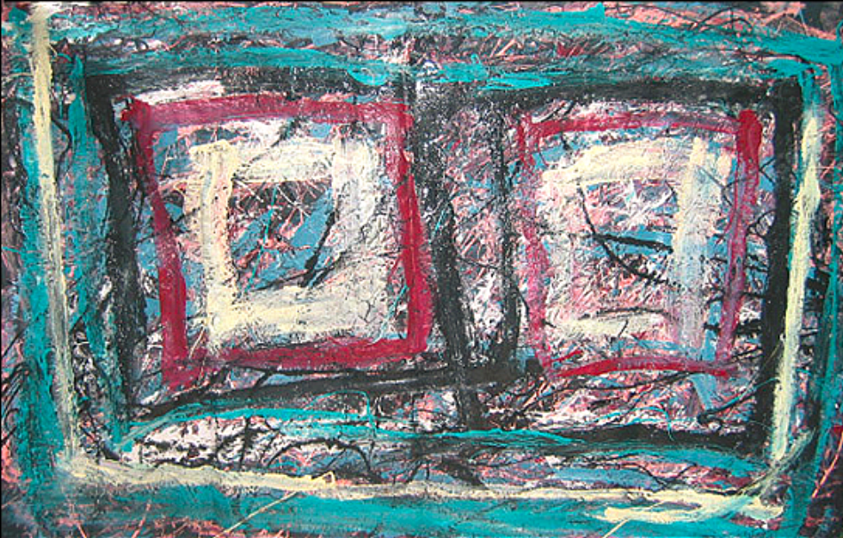 "Square for Eyes  47"" x 86""      1980's"