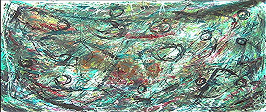 """Under the Sea  42"""" x 84""""      1980's"""