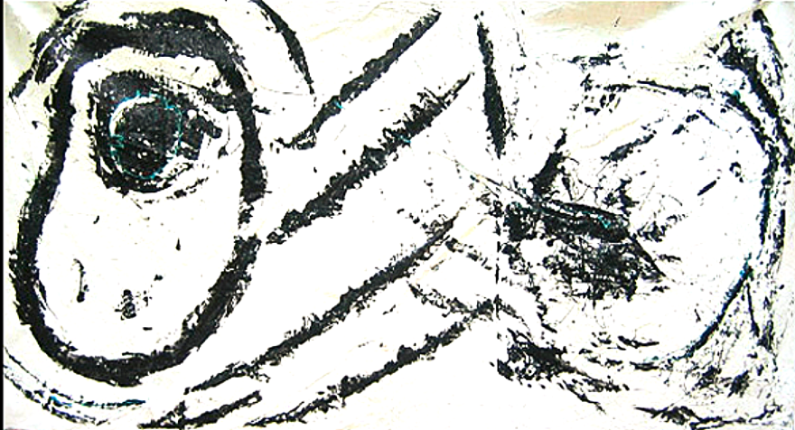"Wink with Blue   48"" x 95""      1990's"