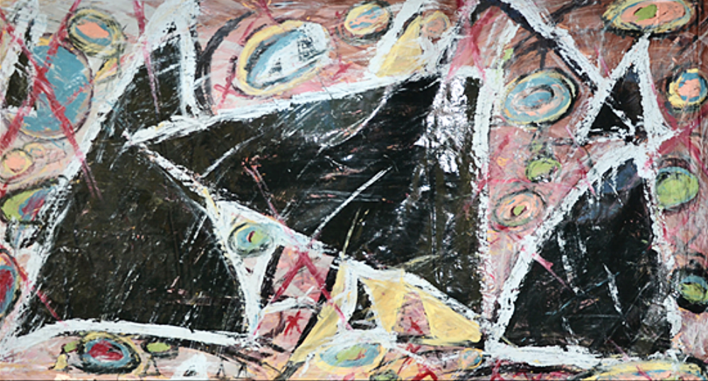 "Black Triangle  48"" x 86""      1990's"