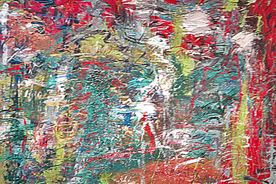 """Red  45"""" x 55""""      2014"""
