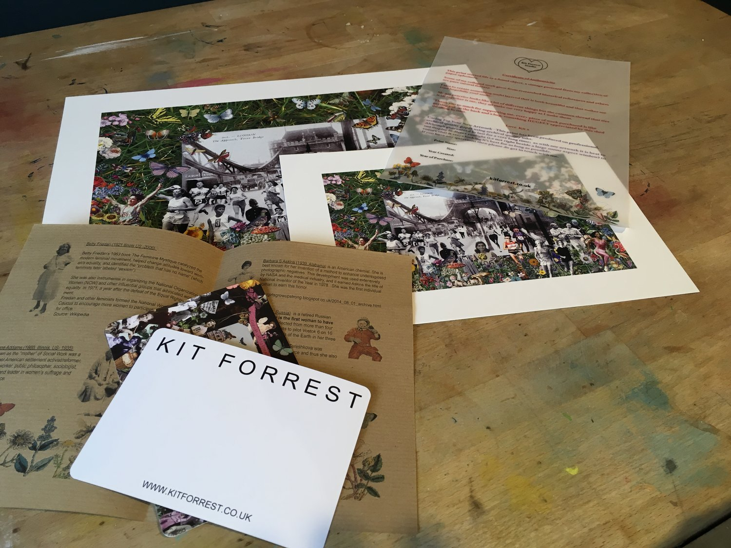 The booklet shown here is from my If You Can See It print, this print will come with it's own version.
