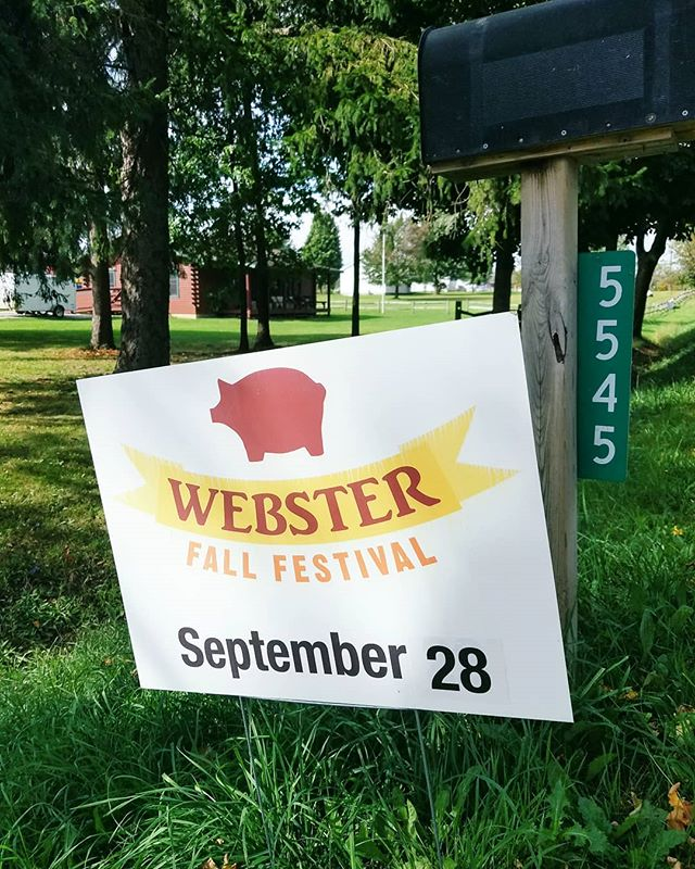 This Saturday is the Webster Fall Festival!! 🐷🚜🎵 This is a family-friendly event and so much fun! Here are a few of the activities to choose from: . . . hay rides . music . petting zoo . children's carnival & crafts . rummage sale . crafters & art show . auction . food . farmers market (10-5pm, our normal outdoor location) . displays of antique equipment . historical buildings . baked goods & preserves . demonstrations including wool spinning and blacksmithing! . . . 🍁 38th Annual Webster Fall Festival Saturday, September 28, 2019 websterfallfestival.org