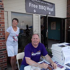 KPGZ volunteers, Mary Chaston and Paul Clayton.