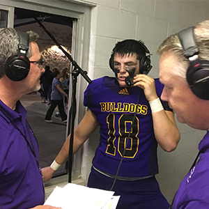 Chopper Mordecai postgame with Mike and Jim.