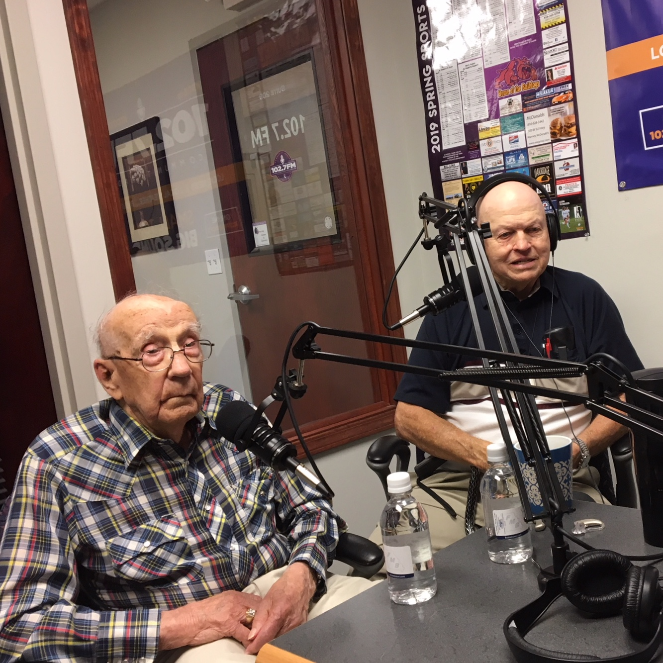 Paul Cleavenger and Donald Hardekopf, two of our nation's military veterans on Kearney LIVE!