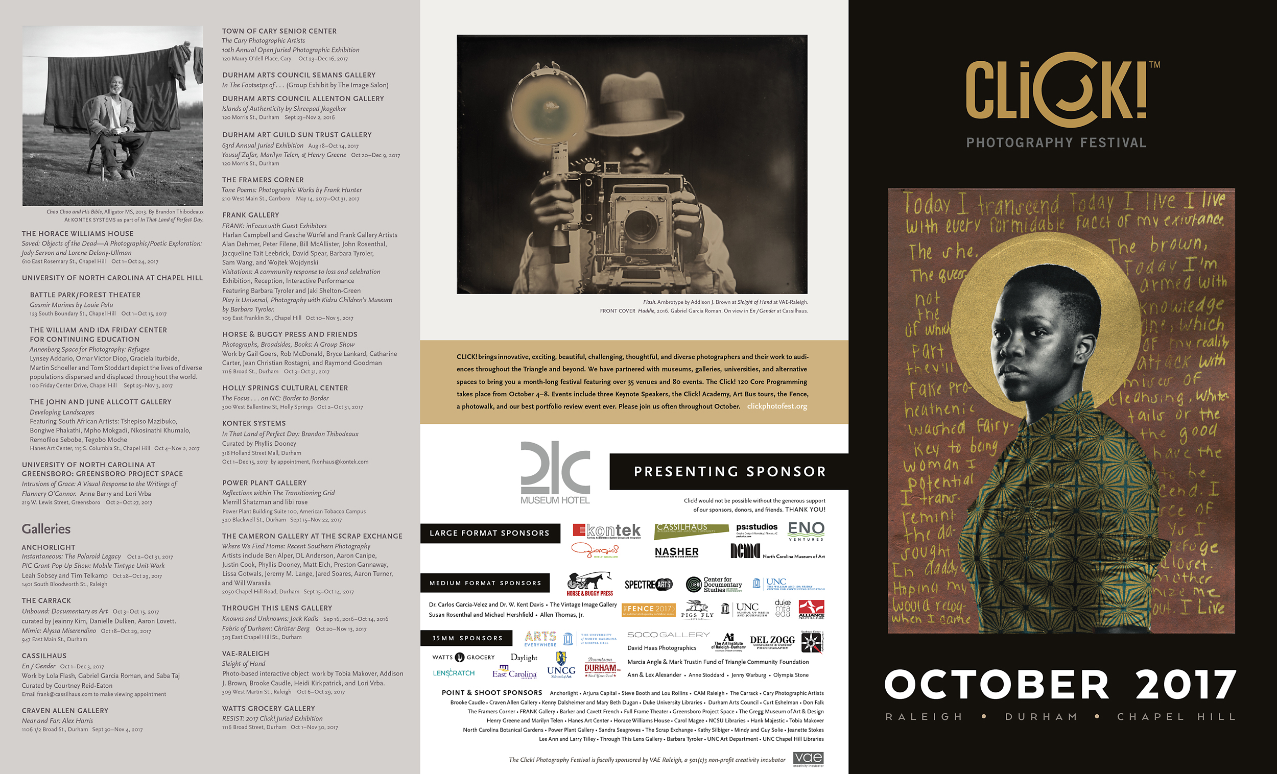 Unfolded program guide from the photography festival (which we co-sponsor).