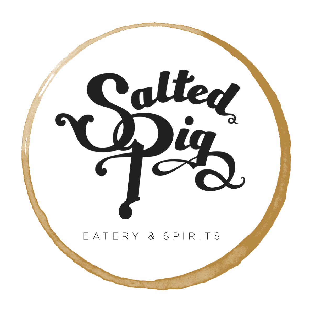 We had fun with this logo project and made several variations of the logo featuring hand-lettering and a circle that implies the ring left behind by a cocktail glass . . .