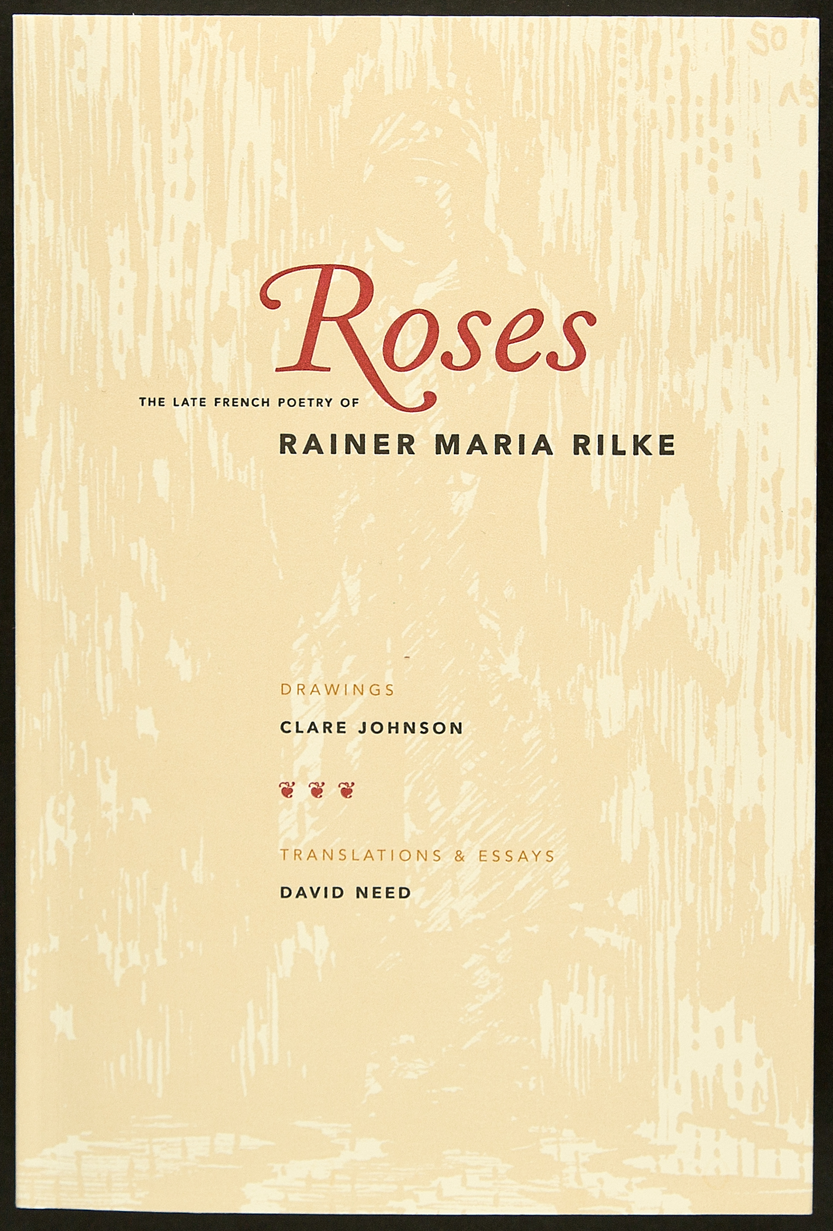 Book cover features a softened background detail of a drawing from the interior. The text was letterpress printed. (in the first printing). Subsequent second printing did not feature hand-printing.