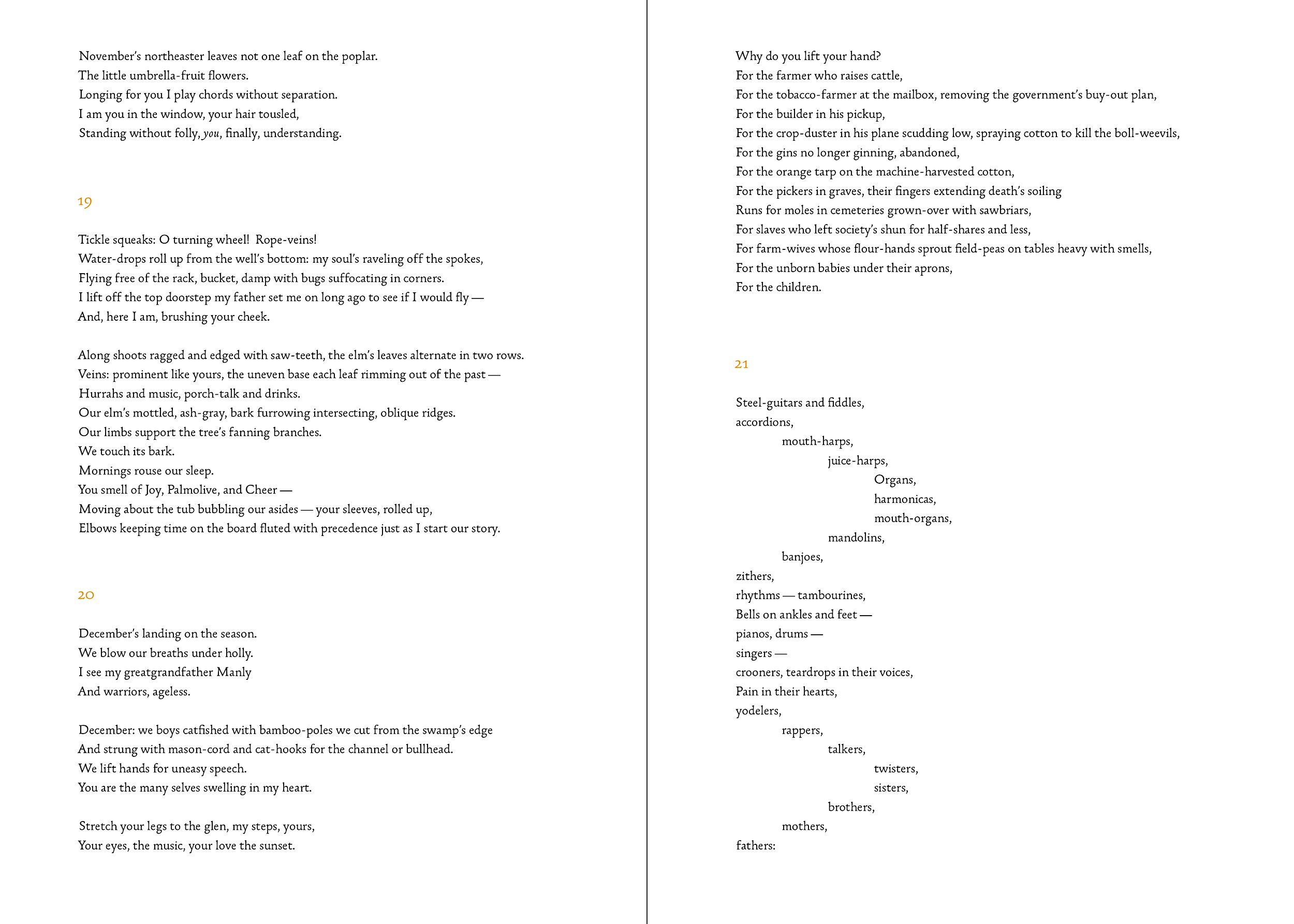 Paul's Hill  was a long autobiographical poem and we went with a larger page size to allow for long lines to remain intact (without breaking or having to be very small in point size).