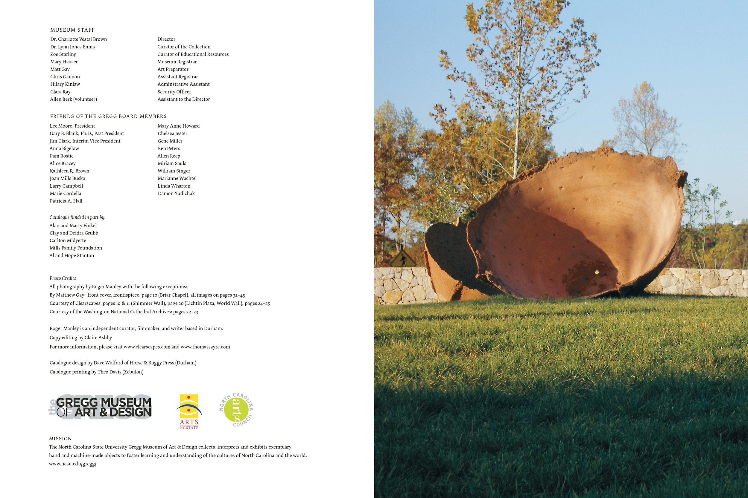 Closing spread to the catalogue.