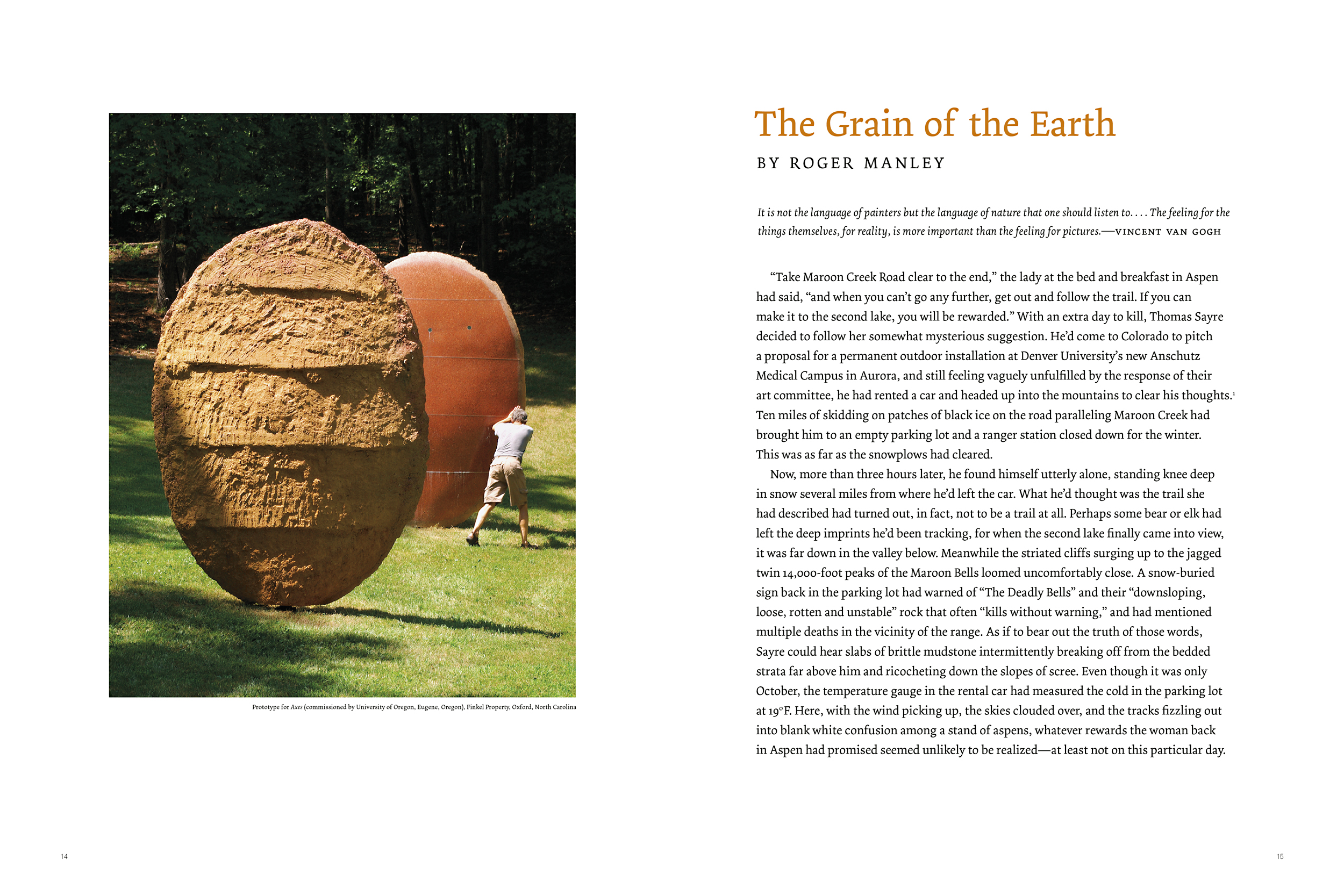 Opening spread by guest scholar (who is now the current director of the Gregg museum).