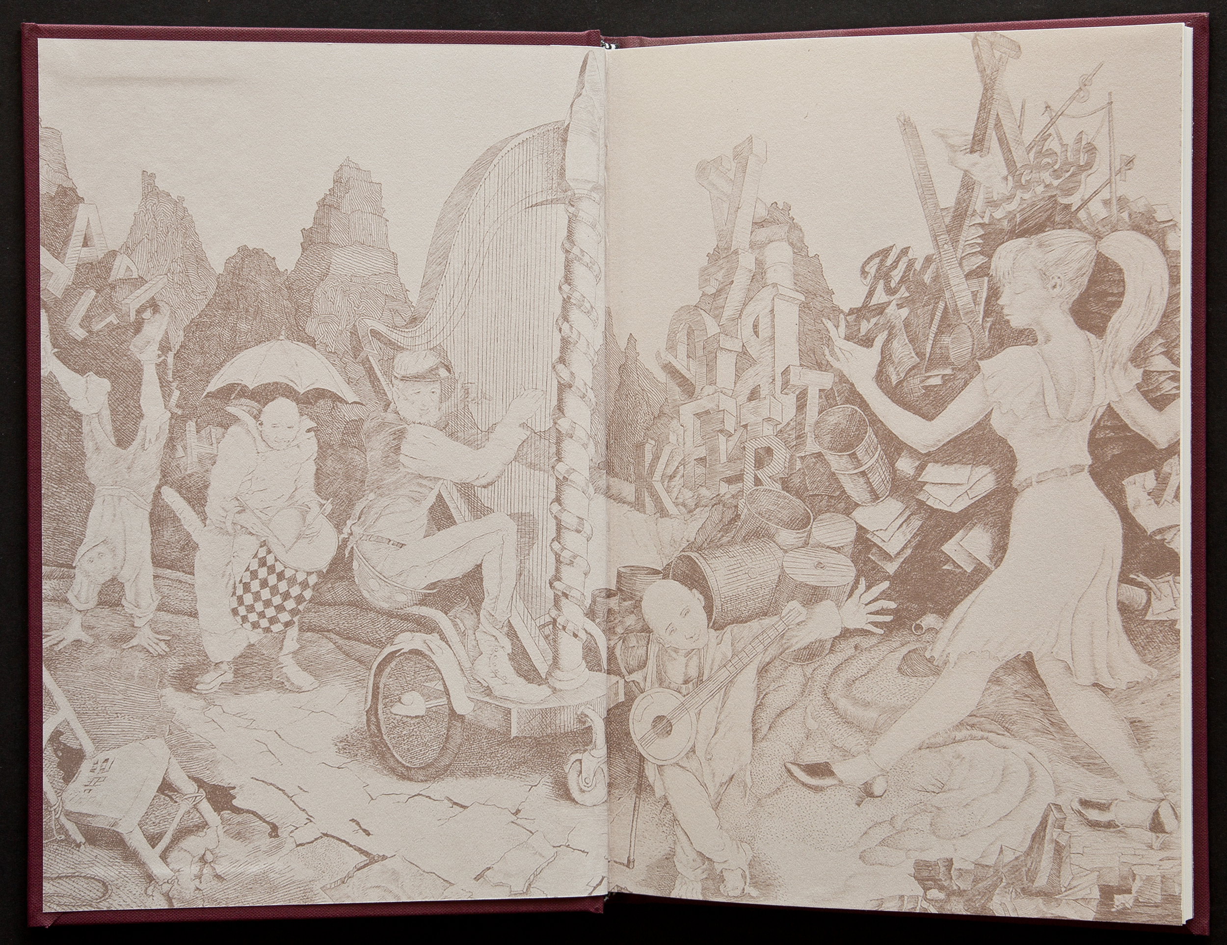 Printed endsheets for the hardcover edition was another deluxe touch . . .