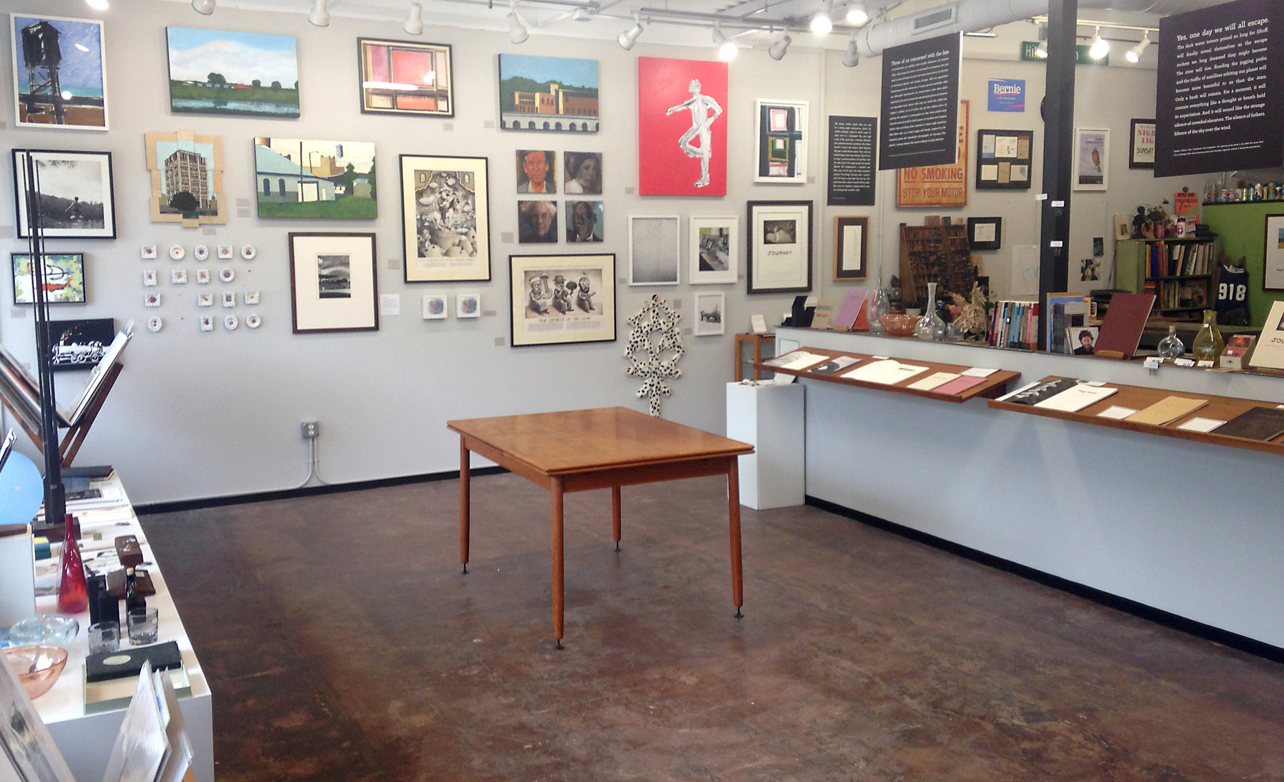 Initial group show.