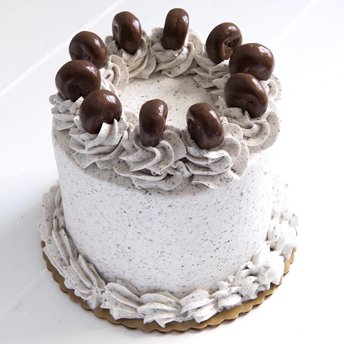 Oreo Explosion - Chocolate cake layered with Oreo mousse, Oreo buttercream frosting, mini chocolate covered Oreos6
