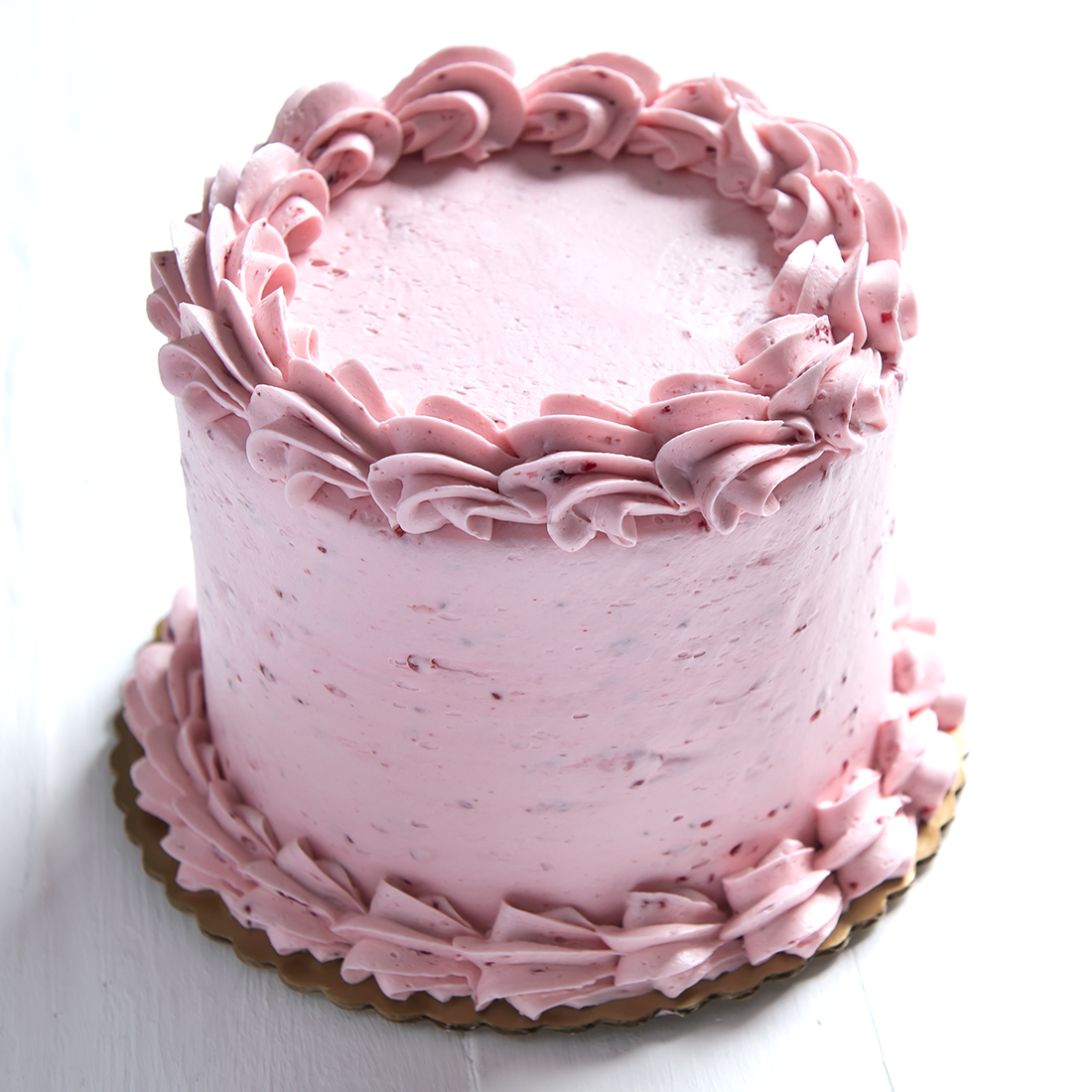 Raspberry Almond - Almond cake filled and frosted with raspberry buttercream frosting6
