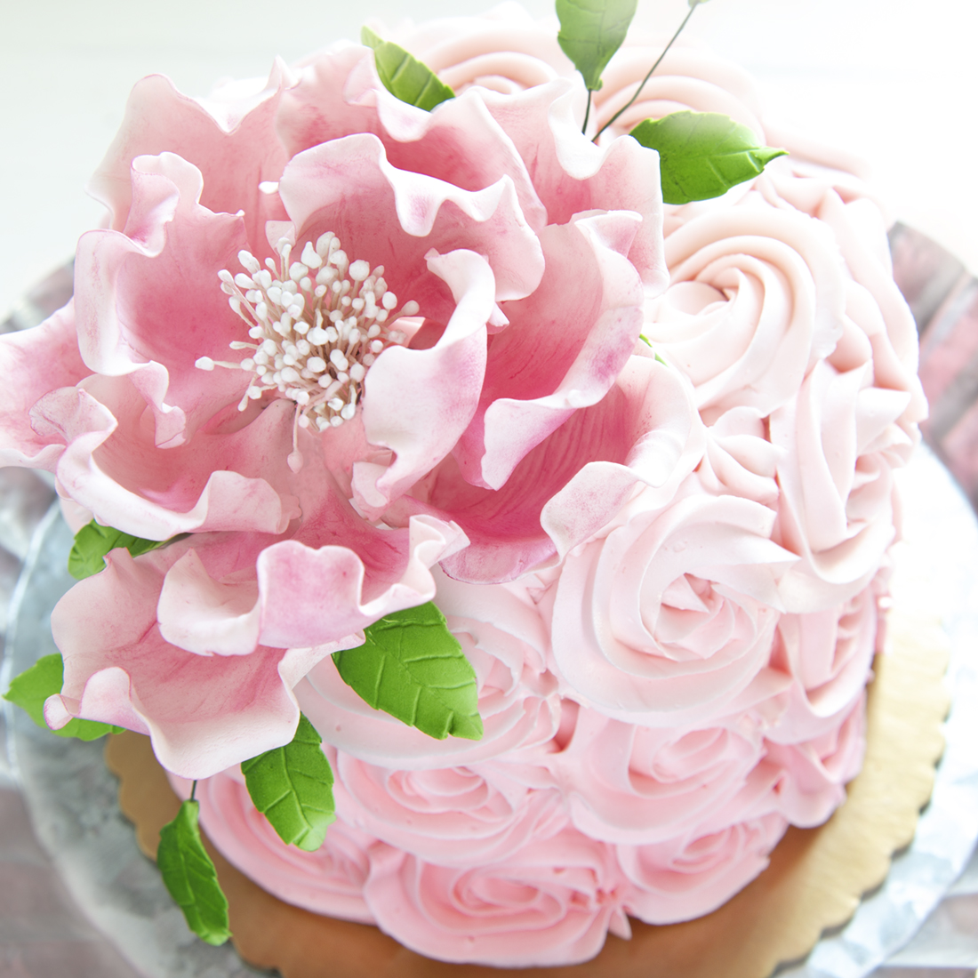 Sugar Flowers - Accent your cake with our beautiful sugar flowers in the colors theme of your choice. We will use our discretion for the flower type.Add $25