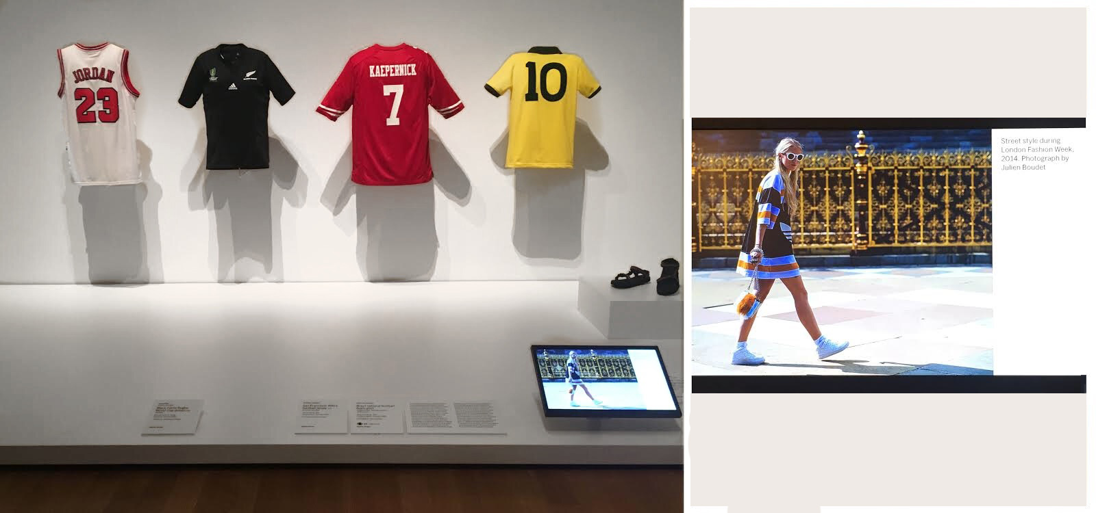 """bleu at MoMa, NYC  julien's picture has been selected to illustrate the exhibition """"Items: Is Fashion Modern?"""""""