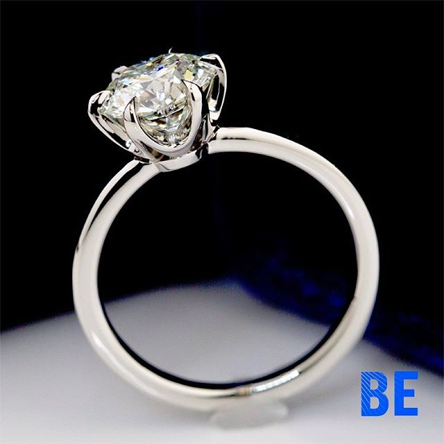 New Spin on the Classic 6 Prong featuring the Tulip Brilliant Round Diamind Solitaire fabricated in our NYC Studio! #diamondring #instaring #loveher #dreamscometrue #bespokejewelry #sparkle #design #jewelrylover #dreamring #diamonds #loveforever #cupid #style #gemology #solitairering #engaged #stunning #happiness #thatsdarling #platinum #instajewelry #proposal #ido #shesaidyes