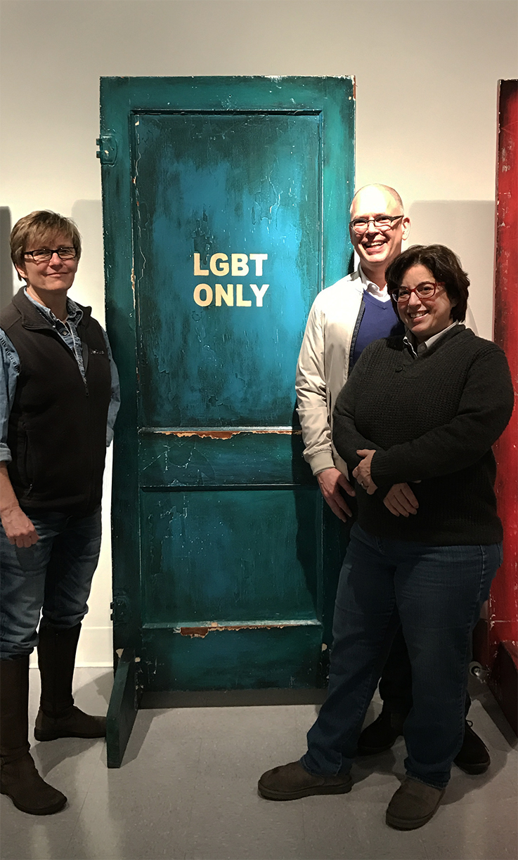 Jim Obergefell, Chris Svoboda exhibition visit.