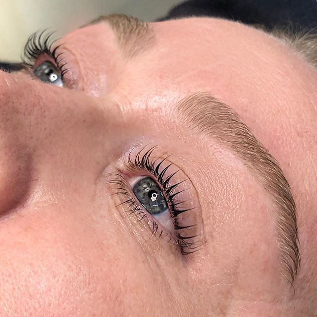 Sometimes (or always) you forget your before pic but the after is still so 🔥 !! In love with this Lash Lift, Tint, & Brow Wax.  Lash Maintenance: 6-8 weeks  Brow Maintenance: 3 weeks  Booking Link in Bio