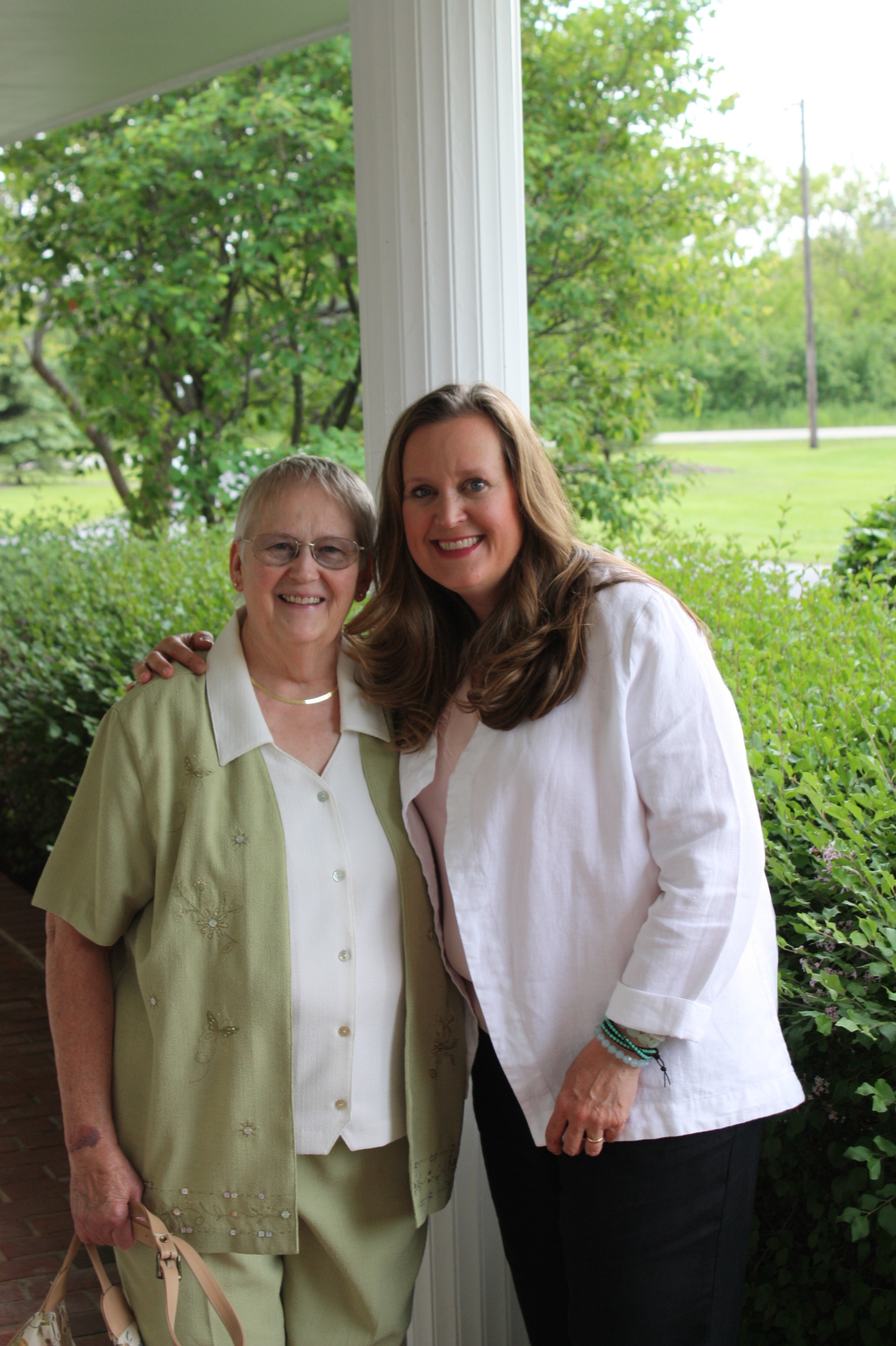I'm pictured here with my mom, my very first teacher.