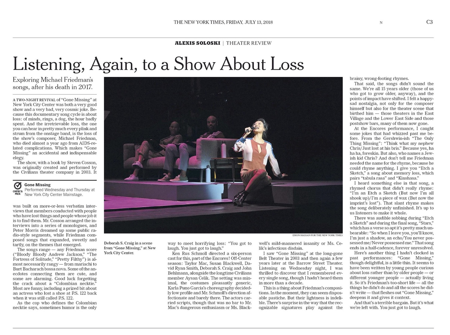 https://www.nytimes.com/2018/07/12/theater/gone-missing-review-michael-friedman-civlians.html