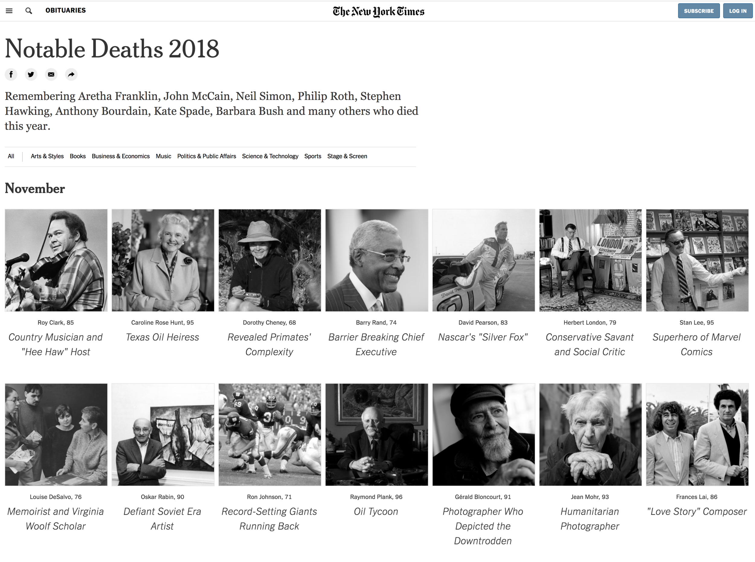 An interactive section in The New York Times .
