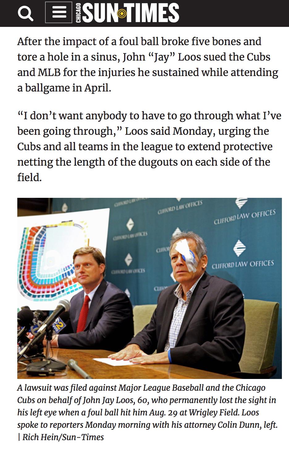 Press Conference for  Jay Loos v. Major League Baseball, et al