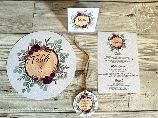 // TIME TO DINE // . Whichever one of our designs you go for we have coordinating on the day stationery too! Ranging from table plans, name cards, menus, order of service, welcome signs & more! . . www.laurareece.net - Facebook - Instagram - Pinterest . #wedding #weddingstationery #weddinginvitations #weddinginvites #rusticwedding #floralwedding #vintagewedding #quirkywedding #invitations #seatingplan #scottishdesigners #weddinginspo #weddingplanning #luxurywedding  #graphicdesigner #graphicdesign #scottishwedding #fife #edinburgh #scotland #advertising #marketing #laurareece #madeinscotland #smallbusiness #luxurywedding #copper #seatingplan #seatingchart #menu #botanical #floral #rusticwedding