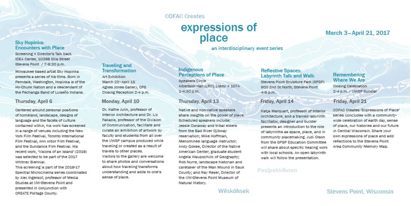 Interior of main brochure for the Expressions of Place series.