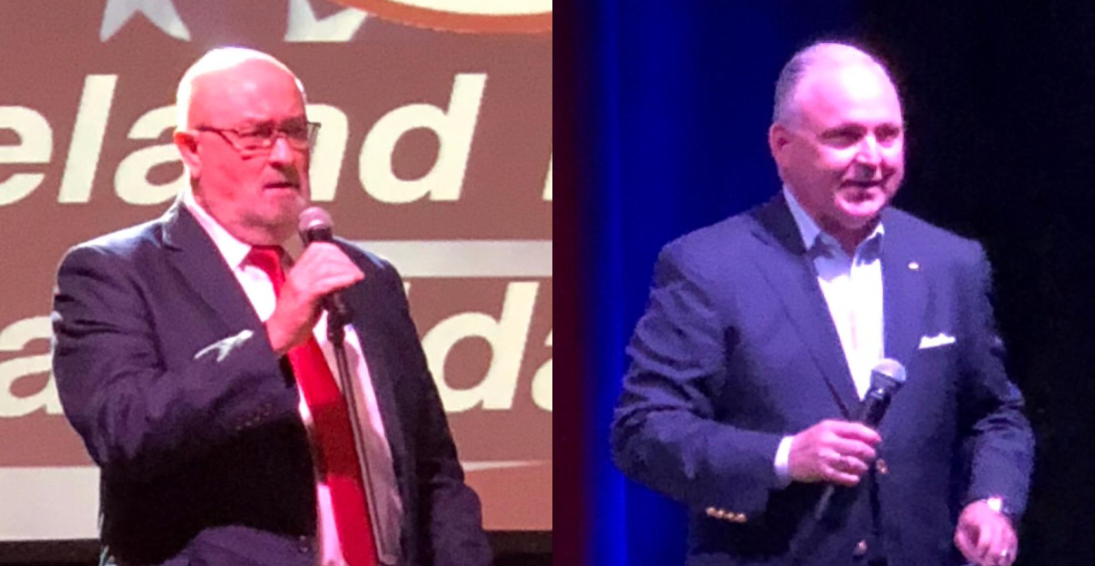 (Duane Schriver, left. Kevin Brooks, right).