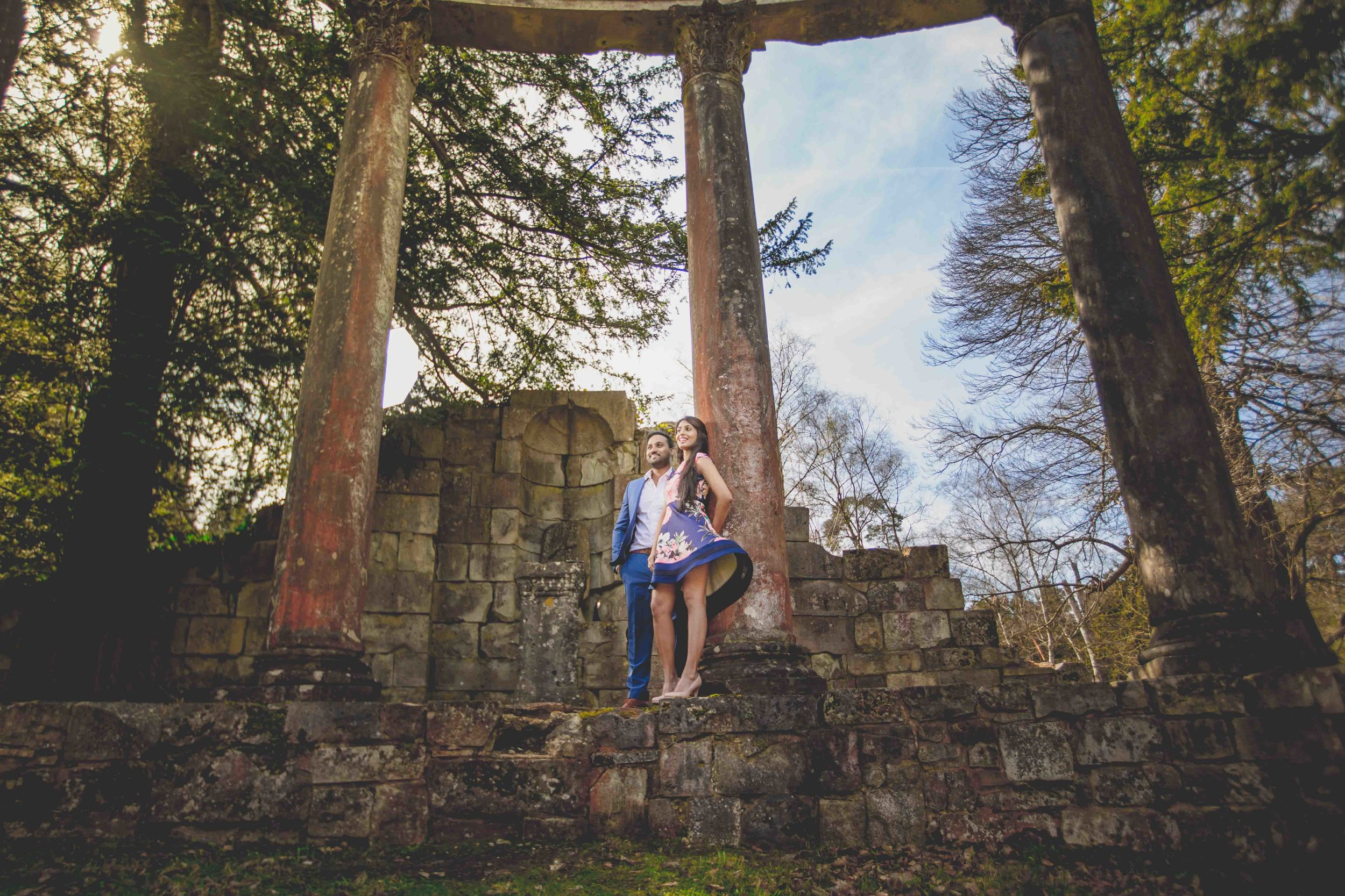 Virginia-waters-windsor-pre-wedding-engagement-shoot-female-asian-wedding-photographer-natalia-smith-photography-leptis-magna-ruins1.jpg