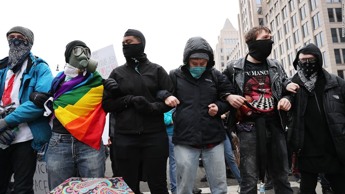 The Resistance (above) is open to allies of all identities, as long as those are identities are perpetually obscured by face bandanas and Rage Against the Machine t-shirts.