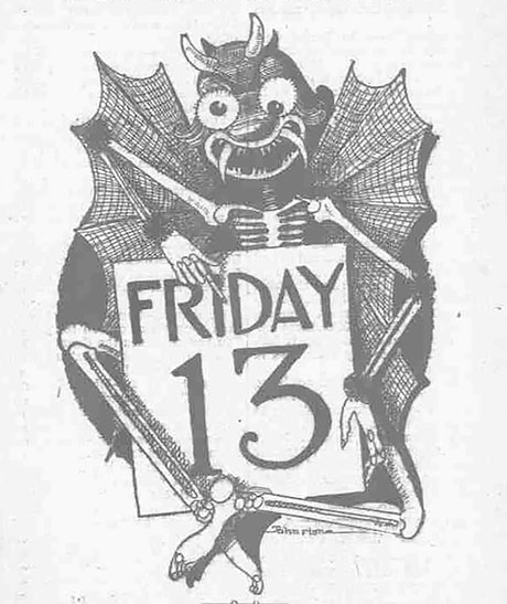 SHOP RULES FOR FRIDAY THE 13TH